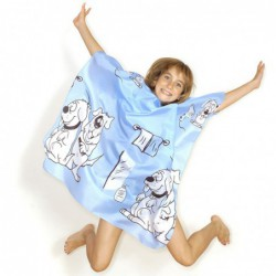 Children's Doggy Gown Blue