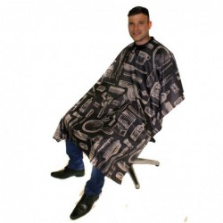 Vintage Barber Gown - Charcoal